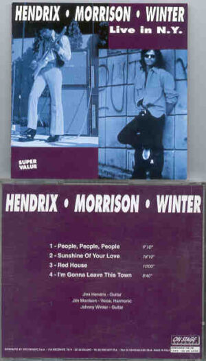 Johnny Winter -  Hendrix , Morrison & Winter Live In New York ( On Stage )