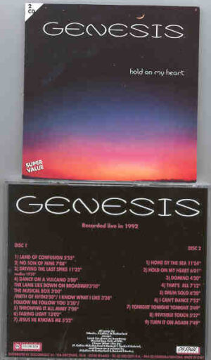 P. Gabriel / GENESIS / P. Collins - Hold On My Heart ( On Stage Recs ) ( Live 1992 Tour ) ( 2 CD!!!!! SET )
