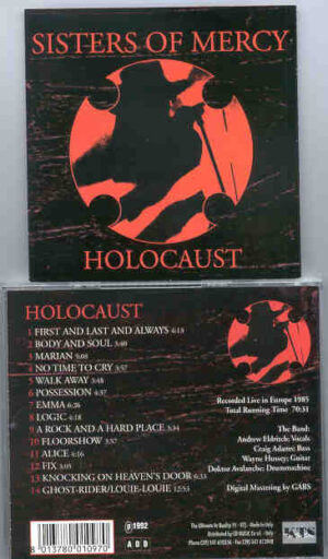 The Sisters Of Mercy - Holocaust ( Live in Europe 1985 ) ( KTS )