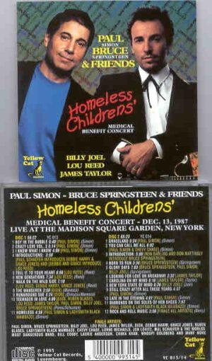 Simon & Garfunkel - Homeless Children's Medical Benefit Concert ( Yellow Cat ) ( With B. Springsteen )