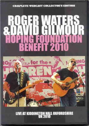 DVD Pink Floyd - Hoping Foundation Benefit 2010 ( David Gilmour & Roger Waters LIVE At Kiddington , UK )