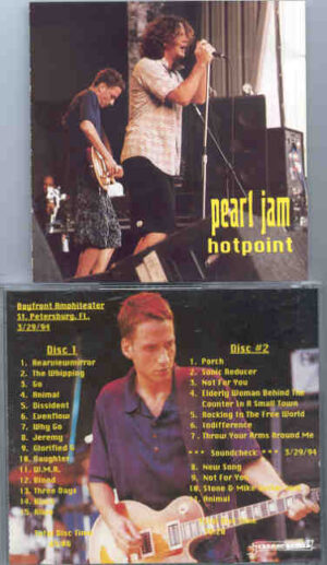 Pearl Jam - Hot Point ( 2 CD!!!!! set ) ( Bayfront Amphitheater , St Petersburg , Fl , March 29th , 1994 )