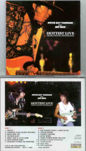 Stevie Ray Vaughan - Hottest Live ( From Exotic Honolulu ) ( 2 CD!!!!! SET ) ( CBS Convention , Honolulu , Hawaii , July 7th , 1984 )