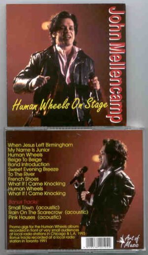 John Cougar Mellencamp - Human Wheels On Stage ( Live promo Gigs in Local Radio Stations)