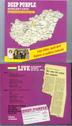 Deep Purple - Hungary Days ( 2 CD!!!!! set ) ( Live In Budapest , January 26th , 27th & 28th , 1987 )
