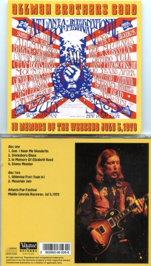 Allman Brothers Band - In Memory Of The Weekend ( 2 CD!!!!! set )( Middle Georgia Raceway , July 5th , 1970 )