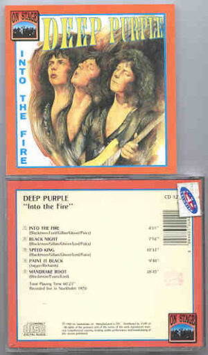 Deep Purple - Into The Fire ( On Stage ) ( Stockholm 1970 )
