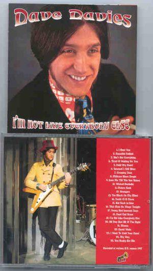 The Kinks - I'm Not Like Everybody Else   ( Dave Davies )