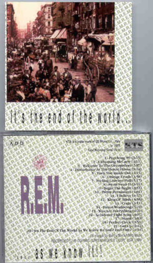 R.E.M. - It's The End Of The World  ( Live During The Green World Tour USA , 1989 ) ( KTS )