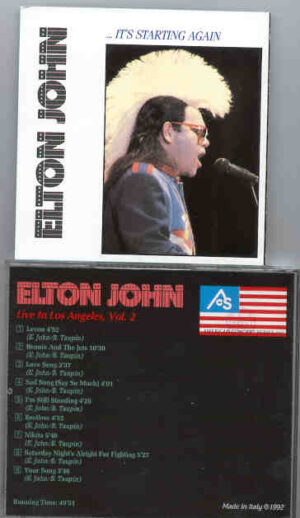 Elton John - It's Starting Again ( LIVE In Los Angeles 1986 Vol. 2 )