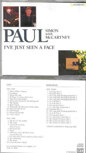 Simon & Garfunkel - I've Just Seen A Face ( 3 Cd Set ) ( Paul Simon & Paul McCartney )