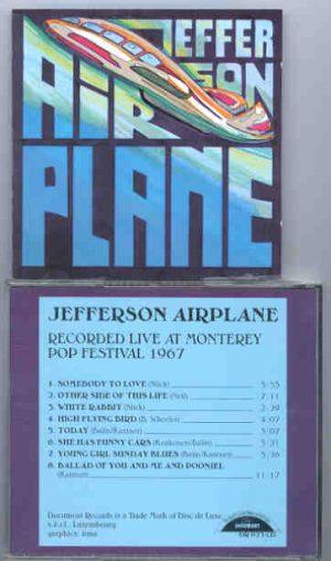 Jefferson Airplane - Live At Monterrey Pop Festival 1967  ( Documents )
