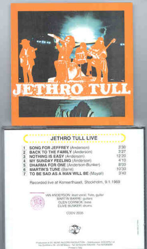 Jethro Tull - Jethro Tull LIVE !  ( DV MORE Rec. )  ( Sweden 1969 )