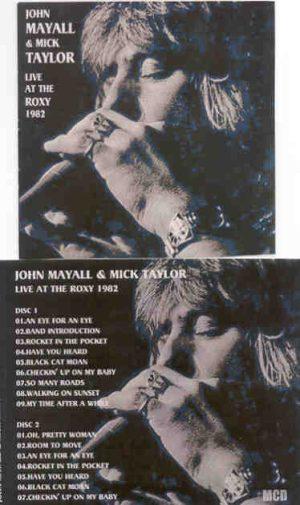Mick Taylor - With John Mayall Live At The Roxy 1982 ( 2 CD!!!!! set )