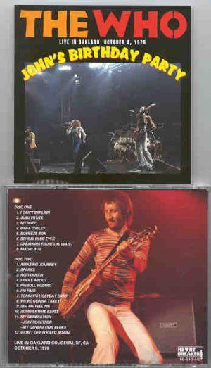 The Who - John's Birthday Party ( 2 CD!!!!! SET ) ( Oakland Coliseum , San Francisco , CA , USA , October 9th , 1976