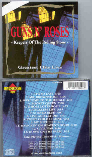 Guns N' Roses - Keepers Of The Rolling Stone ( Living Legend ) ( Live in The USA )