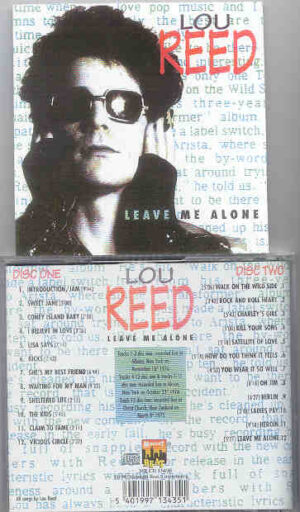 Lou Reed / Velvet Underground - Leave Me Alone ( 2 CD!!!!! set ) ( Midnight Beat ) ( Live 1975 - 1976 )