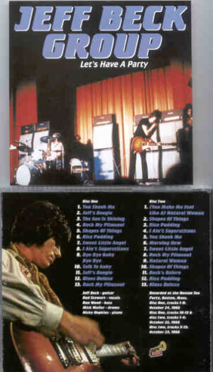 Jeff Beck - Let's Have A Party ( 2 CD!!!!! SET ) ( Boston , Mass , USA , October 24th , 1968 )