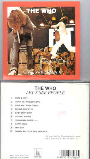The Who - Let's See People ( London , UK , May 18th , 1974 vol. 3 ) ( Oil Well )