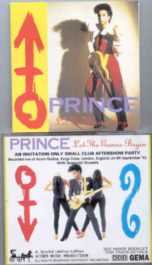 Prince - Let The Games Begin ( Acorn Studios , King Cross , London , UK , Sept 8th , 1993 )