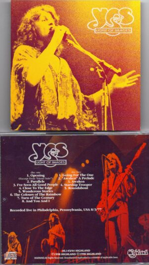 Yes - Light Of Images  ( Highland ) ( 2 CD!!!!! SET ) ( Live in Philadelphia , Pennsylvania , USA , August 3rd , 1977 )