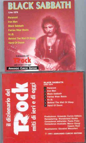 Black Sabbath - Live 1970 ( Armando Curcio Editore )