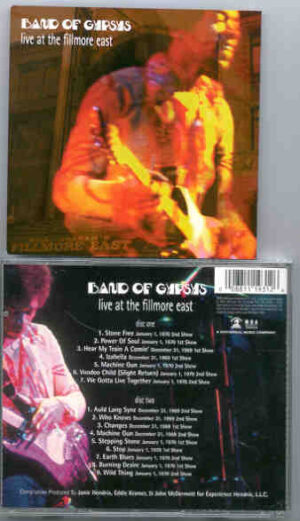 Jimi Hendrix - Band Of Gypsies Live At Fillmore East ( 2 CD!!!!! Set ) ( 1969 - 1970 , 1st & 2nd Shows)