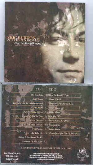 Eric Burdon and The Animals - Live At Poughkeepie ( 2 CD!!!!! set ) ( Swingin' Pig )