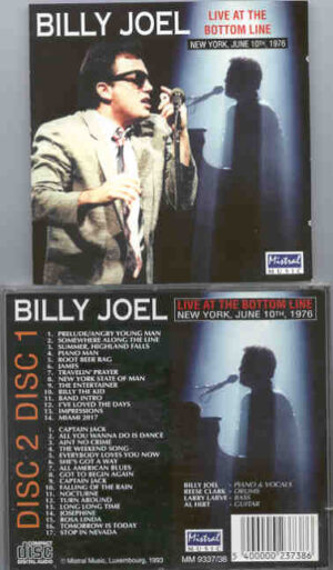 Billy Joel - Live At The Bottom Line ( Mistral ) ( 2 CD!!!!! set )( New York , June 10th , 1976 )
