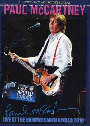 DVD Paul McCartney - Live At The Hammersmith Apollo 2010 ( 2 DVD SET ) ( London , UK , December 18th , 2010 )