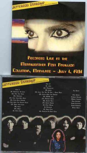 Jefferson Airplane - Jefferson Starship Live The Merriweather Post Pavillion ( 2 CD!!!!! ) ( Columbia , Maryland , July 1st 1981 )