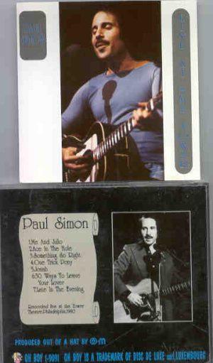 Simon & Garfunkel - Live At The Tower ( Oh Boy ! ) ( Paul Simon at Tower Theater , Philadelphia , 1980 )
