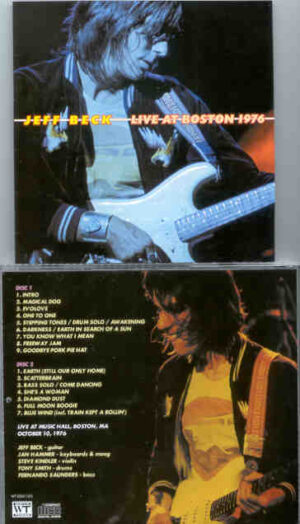 Jeff Beck - Live In Boston 1976 ( 2 CD!!!!! set ) ( Boston Music Hall , October 10th , 1976 )