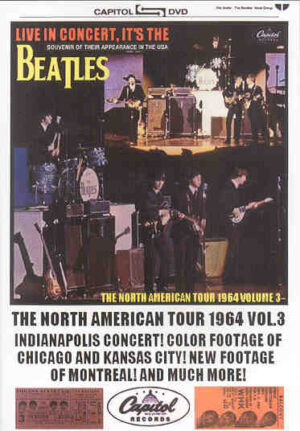 DVD The Beatles - Live In Concert , It's The Beatles ! ( North American Tour 1964 Vol 3 )
