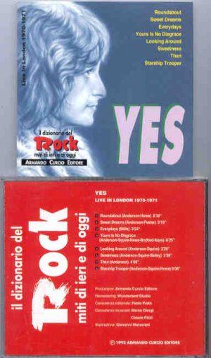 Yes - Live In London 1970 - 1971 ( Armando Curcio Editore )