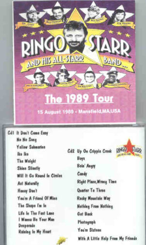 Ringo Starr - Live In Mansfield  ( 2 CD!!!!! set ) ( Mansfield , MA , USA , August 15th , 1989 )