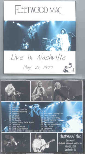 Lindsey Buckingham Fleetwood Mac - Live in Nashville ( 2 CD!!!!! set ) ( May 21st , 1977 , Nashville , TN , USA )