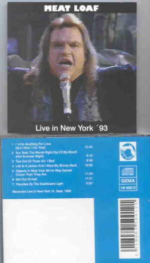 Meat Loaf - Live In New York '93 ( New York , USA , September 15th , 1993 )