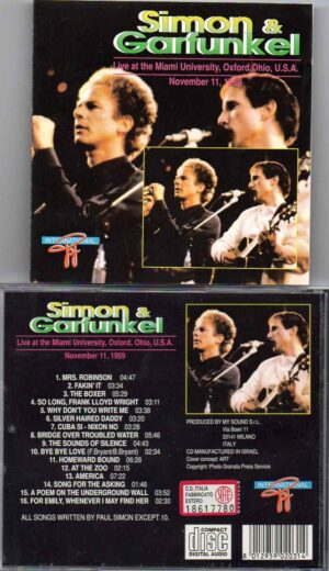 Simon & Garfunkel - Live In Ohio 1969 ( Miami University , Oxford , Ohio, November 11th , 1969 )