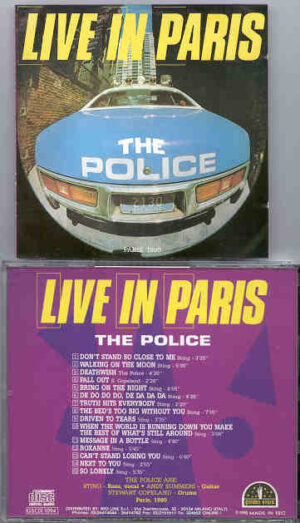 Sting / The Police - Live In Paris ( The Police ) ( Paris , France , 1980 )