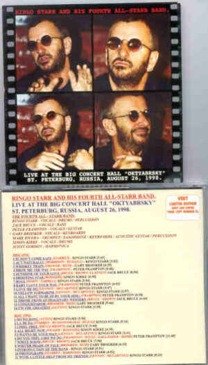 Ringo Starr - Live In St Petersburg , Russia , August 26th , 1998 ( 2 CD!!!!! set )