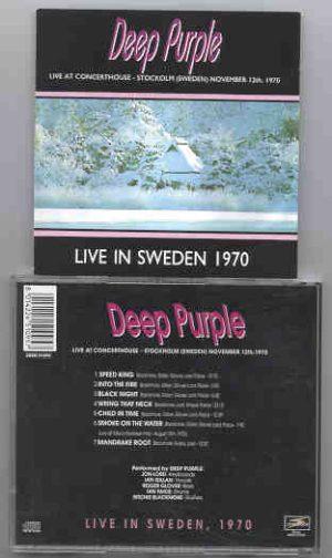 Deep Purple - Live In Sweden ( November 12TH , 1970 )