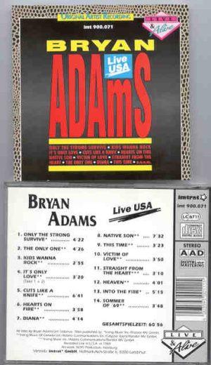 Bryan Adams - Live USA 1989