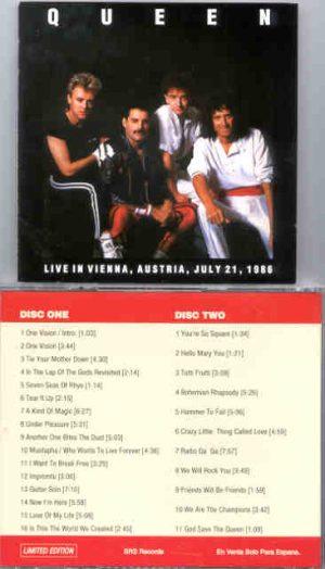 Queen - Live In Vienna , Austria ( 2 CD!!!!! SET ) ( July 21st , 1986 )