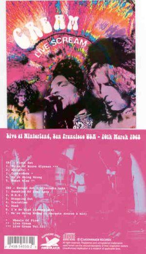 Cream - Live Scream ( 2 CD!!!!! set ) ( Cream At Winterland , San Francisco , USA , March 19th , 1968 )