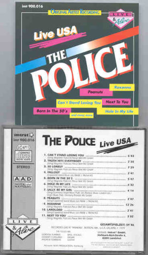 Sting / The Police - Live USA ( Live in the USA 1977 )