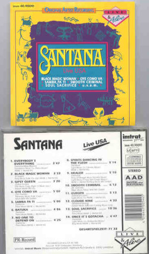 Santana - Live USA ( Live in Concert in The USA during 1988 )