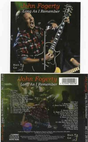 Creedence Clearwater Revival / John Fogerty - Long As I Remember ( 2 CD!!!!! ) ( John Fogerty Live at Orpheum Theater , Boston , MA , USA , Nov 29th , 2009 )