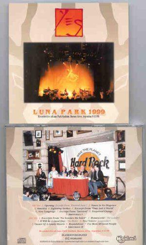 Yes - Luna Park 1999 ( Highland ) ( 2 CD!!!!! SET ) ( Live in Buenos Aires , Argentina , 9/12/99 )