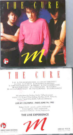 The Cure - M   ( Great Dane Recs )  ( Paris , June 7th , 1982 )